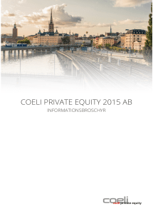 COELI PRIVATE EQUITY 2015 AB