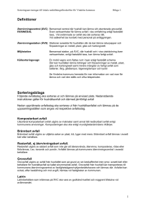 Definitioner Sorteringsbilaga
