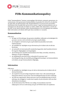 FUBs Kommunikationspolicy
