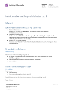Nutritionsbehandling vid diabetes typ 1