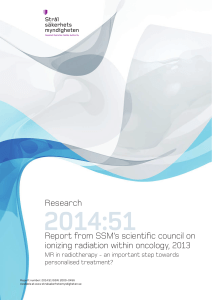 2014:51 Report from SSM`s scientific council on ionizing radiation