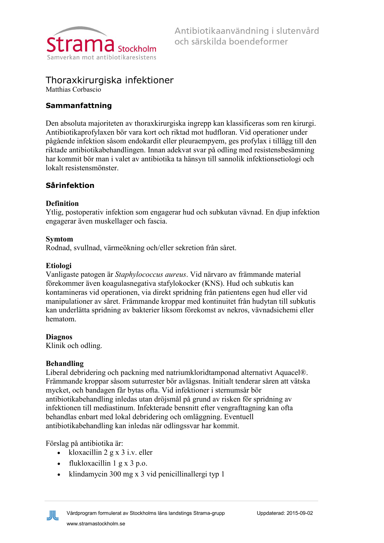 koagulasnegativa stafylokocker antibiotika