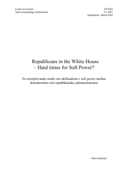Republicans in the White House – Hard times for Soft Power?
