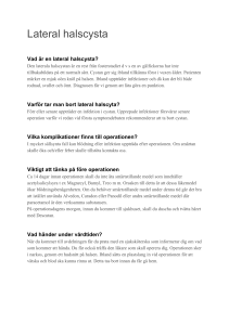 Information om operation av lateral halscysta