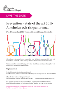 State of the art 2016 Alkoholen och riskpanoramat