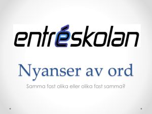 Nyanser av ord - WordPress.com