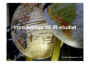 Introduktion till IR-studiet