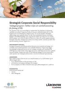 Strategisk Corporate Social Responsibility
