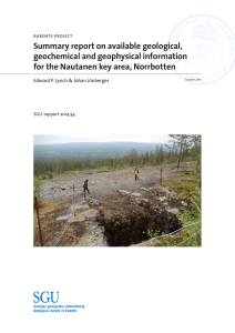 Barents project. Summary report on available geological