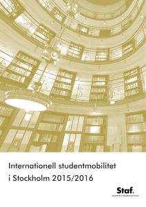 Internationell studentmobilitet i Stockholm 2015/2016