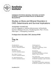 Studies on Bone and Mineral Disorders in CKD