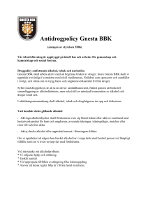 Antidrogpolicy Gnesta BBK