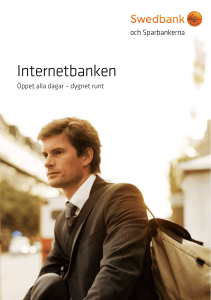 Internetbanken - Tidaholms Sparbank