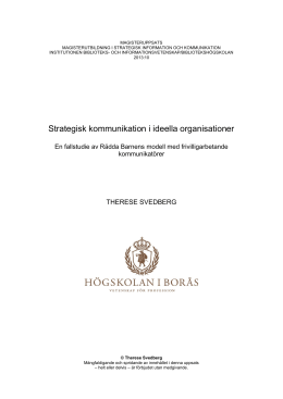Strategisk kommunikation i ideella organisationer