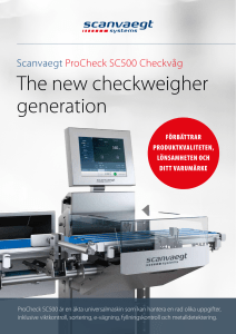 The new checkweigher generation