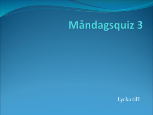 Måndagsquiz 3 - WordPress.com
