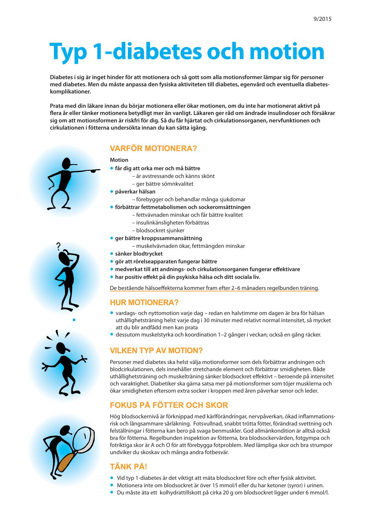 hur påverkar motion blodsockret