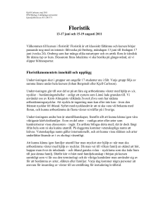 Floristik - IFM - Linköpings universitet