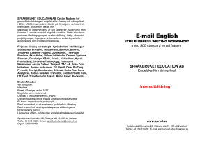 Email English - Språkbruket Education AB