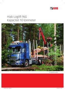 Hiab Loglift 96S Kapacitet 10 tonmeter