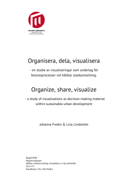 Organisera, dela, visualisera Organize, share