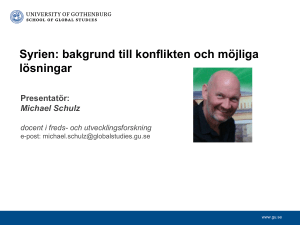 Michael Schulz docent i freds