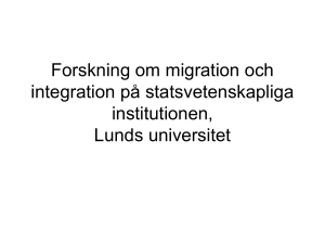 Migrationsforskning på statsvetenskapliga institutionen