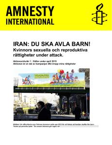 IRAN - Aktivistportalen Amnesty International