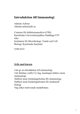 Introduktion till Immunologi