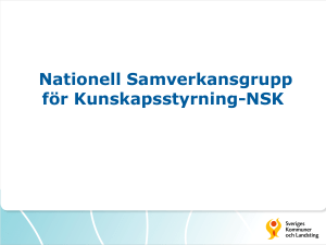 SKL information on nationella programråd och NSK