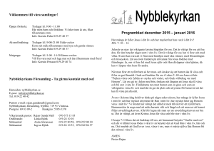 Programblad december 2015 – januari 2016