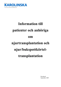 avstötning njure symptom