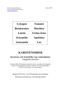 karotenoider - Chalmers Publication Library