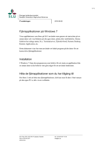 Fjärrapplikation på Windows 7