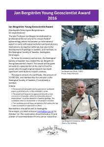 Jan Bergström Young Geoscientist Award 2016.pptx