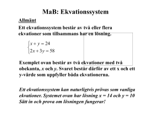 Ekvationssystem
