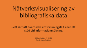 Visualisering av bibliografiska data