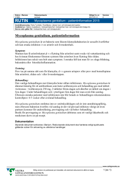 Mycoplasma genitalium - patientinformation 2015