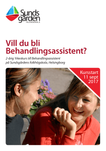 Vill du bli Behandlingsassistent?