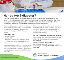 Har du diabetes typ II?