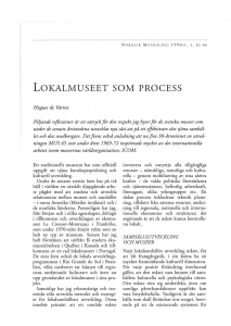 lokalmuseet som process - Open Access journals at UiO