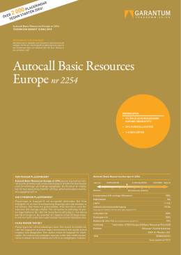 Autocall Basic Resources Europe nr 2254