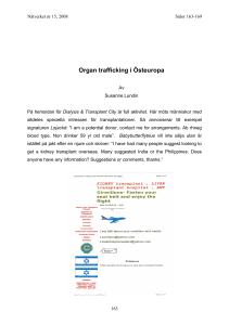 Organ trafficking i Östeuropa
