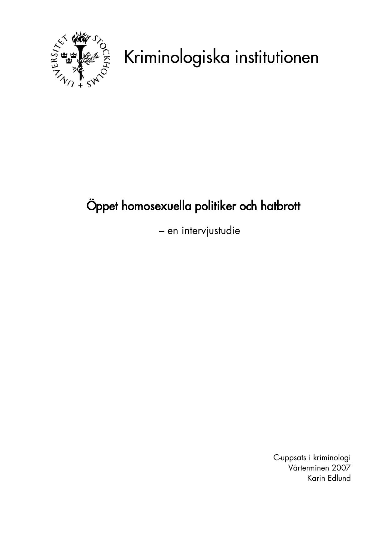 Etiskt problem homosexualitet