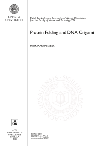 Protein Folding and DNA Origami
