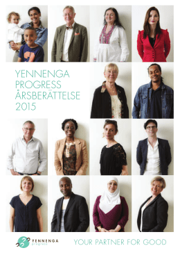 Yennenga progress Årsberättelse 2015