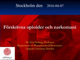 Fred Nyberg opioider 2016 copy