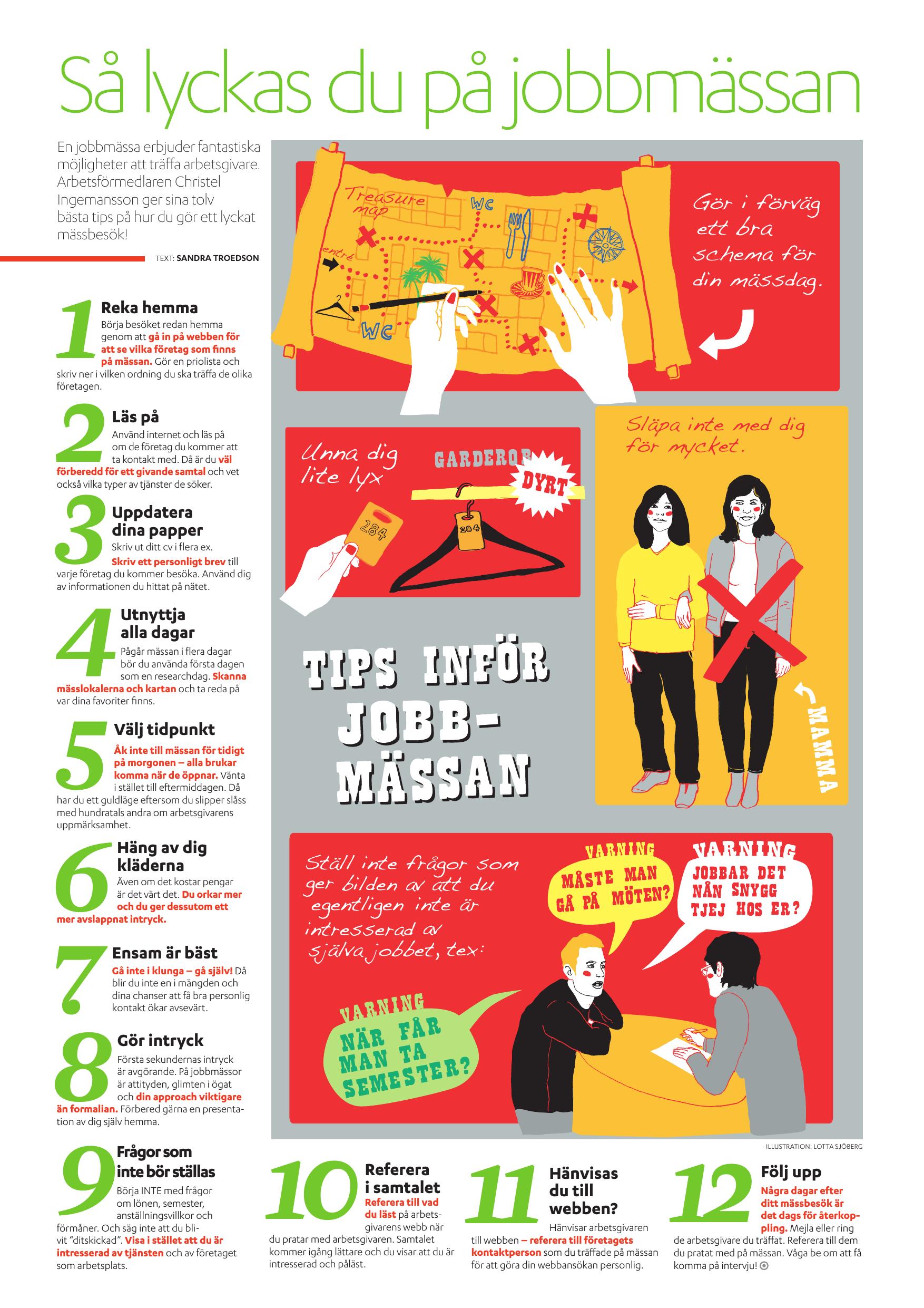 14fa7e5c3db1 Arbetsförmedlaren Christel Ingemansson ger sina tolv bästa tips på hur du  gör ett lyckat mässbesök!