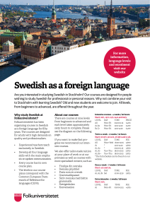 Swedish Courses Spring 2017