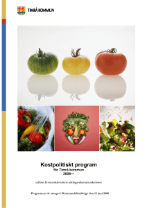 Kostpolitiskt program